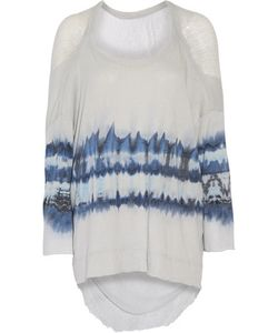 Raquel Allegra | Tie-Dyed Cotton-Blend And Gauze Top