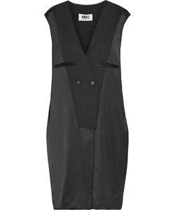 Mm6 Maison Margiela   Twill-Trimmed Satin Dress