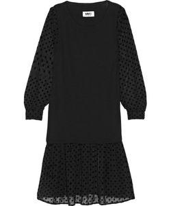 Mm6 Maison Margiela   Stretch-Jersey And Flocked Chiffon Dress