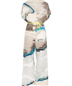 Mm6 Maison Margiela   Printed Crepe Jumpsuit