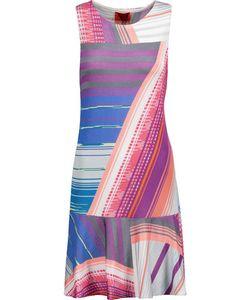 Missoni | Fluted Striped Stretch-Knit Mini Dress