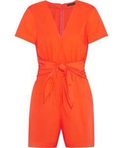 J.CREW   Tessa Tie-Front Cotton-Poplin Playsuit