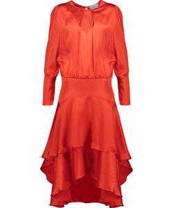 Preen by Thornton Bregazzi | Annabelle Hammered Silk-Satin Midi Dress