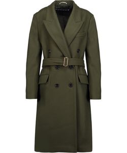 Rochas | Belted Wool-Blend Felt Coat