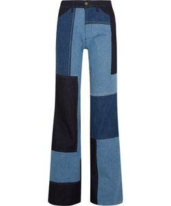 Victoria, Victoria Beckham | Patchwork High-Rise Wide-Leg Jeans