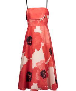 Lela Rose | Print Silk-Crepe Midi Dress