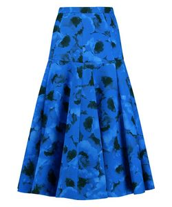 Michael Kors Collection | Fluted Print Cotton And Silk-Blend Skirt