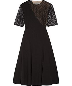 Jason Wu | Lace-Paneled Stretch-Ponte Dress
