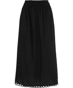 Carven | Broderie Anglaise Cotton Midi Skirt