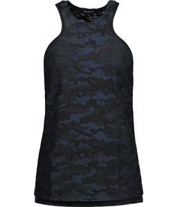 Koral | Embroidered Mesh Tank