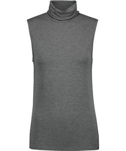 Majestic | Washed Stretch-Jersey Turtleneck Tank