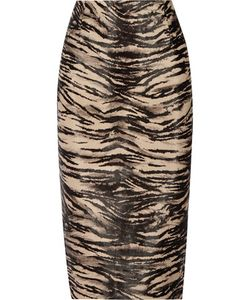 Tamara Mellon | Animal-Print Calf Hair Pencil Skirt