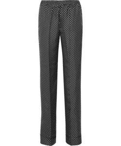 Michael Kors Collection | Polka-Dot Silk Wide-Leg Pants