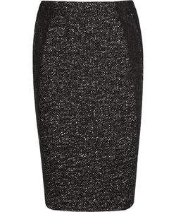 Donna Karan New York | Tweed And Jersey Pencil Skirt