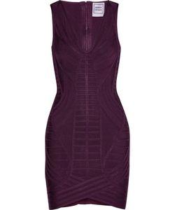 Hervé Léger   Naeva Paneled Bandage Mini Dress