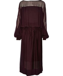 Tamara Mellon | Silk-Georgette Midi Dress