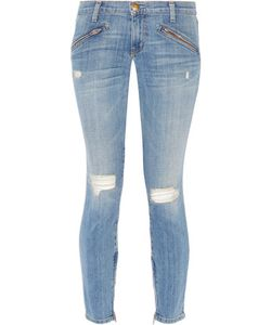 Current/Elliott | The Silverlake Distressed Low-Rise Skinny Jeans
