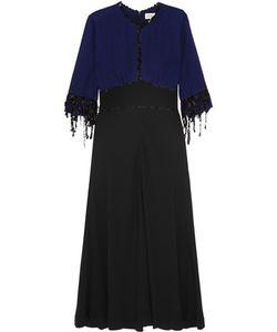Isa Arfen | Sequined Plaid Wool And Crepe Midi Dress
