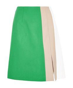 Jonathan Saunders | Marisa Color-Block Wool-Gabardine Skirt