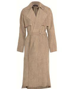 Muubaa | Lorne Belted Suede Trench Coat