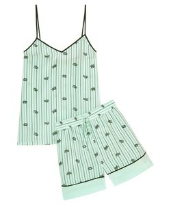 Tibi | Printed Silk Crepe De Chine Camisole And Shorts Set