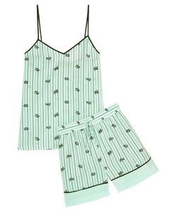 Tibi | Printed Silk Crepe De Chine Camisole And Shorts Set