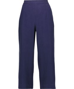 Equipment | Beckett Cropped Washed-Silk Wide-Leg Pants