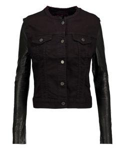 J Brand | Leather-Paneled Denim Jacket