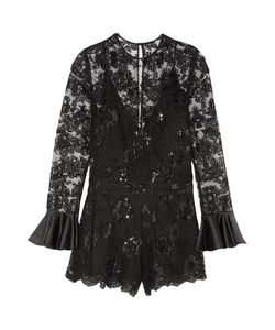 Alexis | Yumi Embroidered Tulle Playsuit