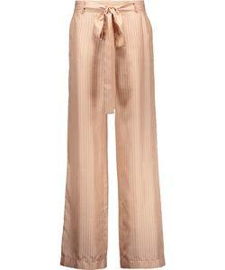 Juan Carlos Obando   Beyamo Striped Silk Wide-Leg Pants