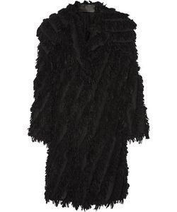 Donna Karan New York | Oversized Fringed Alpaca-Blend Coat