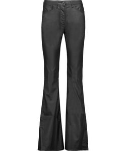 3X1 | Mid-Rise Coated Flared Jeans
