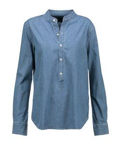 3X1   Wt Mandarin Collar Popover Denim Shirt