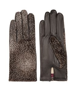 Agnelle | Printed Calf Hair And Leather Gloves