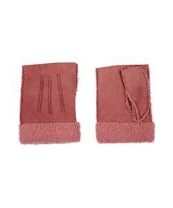 Agnelle | Nubuck Fingerless Gloves