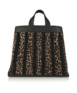 Tamara Mellon | Sugar Daddy Suede-Trimmed Leather And Calf Hair Tote