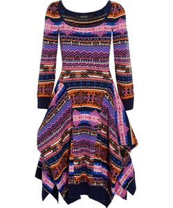 Sibling | Asymmetric Fair Isle Wool Dress