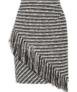 Raoul | Asymmetric Fringed Bouclé Skirt