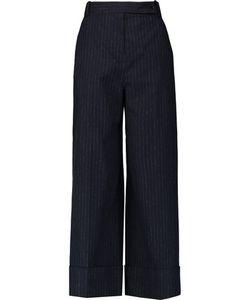 Carven | Pinstriped Felt Wide-Leg Pants