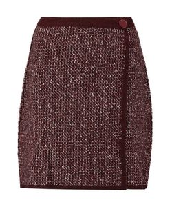 Sonia Rykiel | Stretch Wool-Blend Bouclé Wrap Mini Skirt