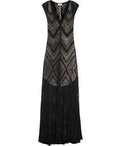 L'agence | Tatiana Burnout Ribbed Jersey Maxi Dress