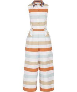 Tanya Taylor | Leomi Striped Cotton-Blend Jumpsuit