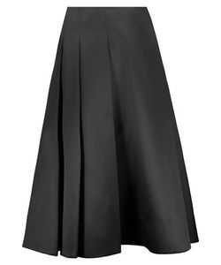 Jason Wu | Pleated Silk And Cotton-Blend Satin Skirt