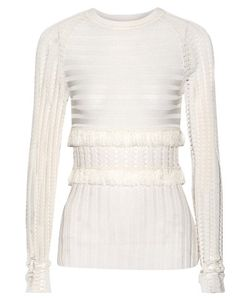 Jason Wu | Fringed Stretch-Knit Sweater