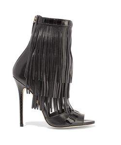 Brian Atwood | Abby Fringed Leather Sandals