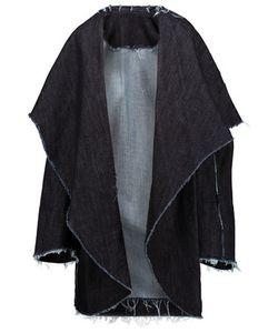 Norma Kamali | Frayed Denim Coat