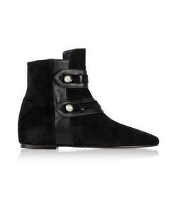 Isabel Marant | Roddy Leather-Trimmed Suede Ankle Boots