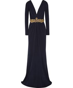 Badgley Mischka | Embellished Crepe Gown