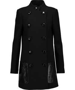 Michael Kors Collection | Leather-Trimmed Wool Coat