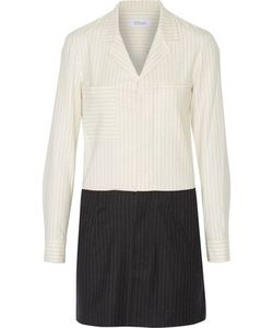 10 Crosby Derek Lam | 10 Crosby By Derek Lam Pinstriped Wool-Blend Mini Shirt Dress